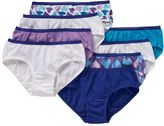 Hanes Girls 4-16 8-pk. Patterned Cotton Hipster Panties