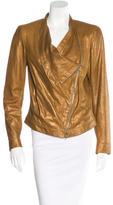 Donna Karan Leather Metallic Jacket