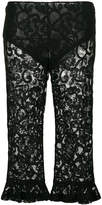 Moschino cropped lace trousers