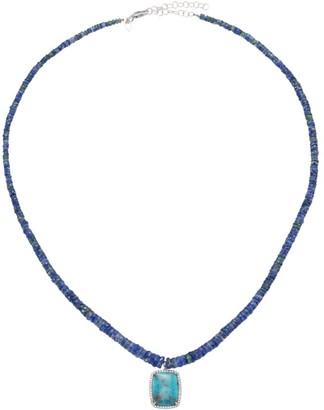 Meira T Sapphire, Paraiba Stone & Diamond Beaded Pendant Necklace