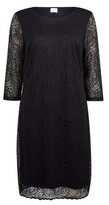 Dorothy Perkins Womens Vila Black Lace Shift Dress, Black