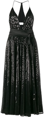 Racil Bianca sequinned halterneck dress