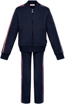 Moncler Glitter Striped-Trim Jacket w/ Matching Pants, Size 4-6
