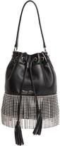 Miu Miu Starlight Embellished Leather Bucket Bag