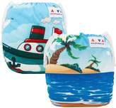 ALVABABY Ajustable Reuseable Washable Swim Diapers 2pcs 0-24 mo.Size 10-40lbs Swimming Lessons DYK18-19-CA