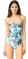 Mara Hoffman Cutout Back Bustier Swimsuit