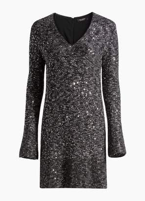 St. John Bejeweled Texture Knit Dress