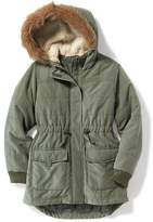 Old Navy Faux-Fur Trim Hooded Parka for Girls