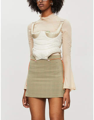 CHARLOTTE KNOWLES Truss semi-sheer stretch-jersey top
