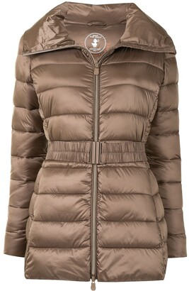 Save The Duck Light Tie-Waist Quilted Jacket