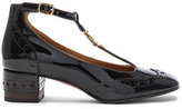 Chloé Patent Leather Perry Pumps in Brown.