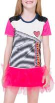 Desigual Stripe Mesh Dress