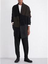 Isabel Benenato Panelled wool-blend cardigan