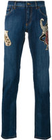 Dolce & Gabbana jazz patch jeans - men - Silk/Cotton/Calf Leather/glass - 46