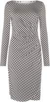 Oui Houndstooth jersey dress