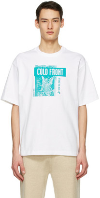 Acne Studios White Dizonord Edition Cold Front T-Shirt