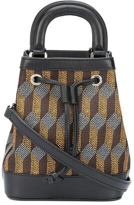 Au Départ Dauphine geometric jacquard bucket bag