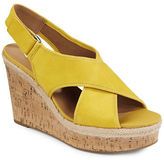 Franco Sarto Taylor Cork Wedge Leather Sandals