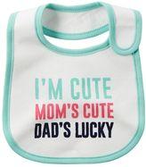 Carter's Baby Girl Family Slogan Bib