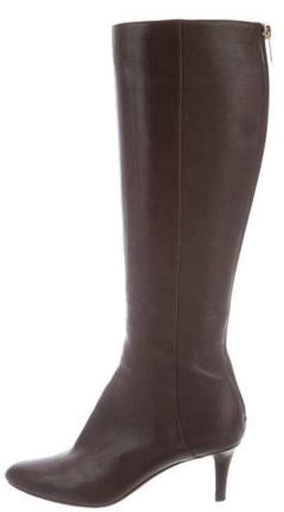 a72db9f26cd Leather Knee-High Boots Brown Leather Knee-High Boots