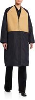 Kassl Sheepskin-Patchwork Reversible Coat