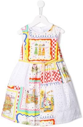 Simonetta Fancy Print Sleeveless Dress