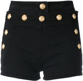 Balmain button shorts - women - Cotton/Spandex/Elastane - 36