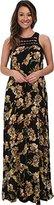O'Neill Juniors' Moore Floral-Print Woven Gauze Maxi Dress