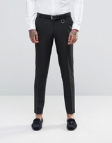 Asos Skinny Suit Pants In Black Polka Dot
