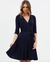 Wallis Plain Wrap Fit-and-Flare Dress