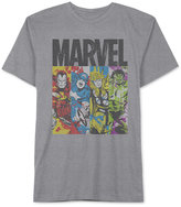 JEM Men's Big & Tall Marvel Avengers Panels Graphic-Print T-Shirt