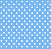686 SheetWorld Fitted Basket Sheet - Primary Polka Dots Blue Woven - Made In USA - 13 inches x 27 inches (33 cm x cm)