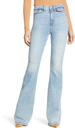 7 For All Mankind Modern A-Pocket High Waist Flare Leg Jeans