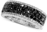 Effy Caviar by Black (1 ct. t.w.) and White Diamond (1/5 ct. t.w.) Band in 14k White Gold