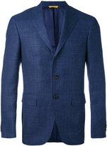 Canali three button blazer - men - Silk/Linen/Flax/Cupro/Wool - 52