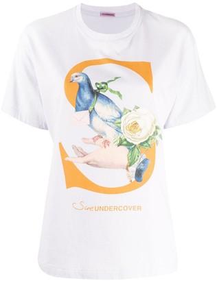 Undercover bird motif T-shirt