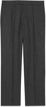 Gucci GG stripe wool silk tailored trousers