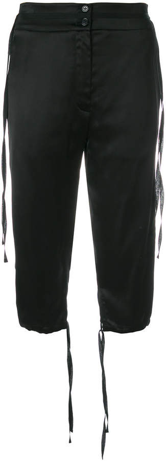 Ann Demeulemeester corded cropped trousers