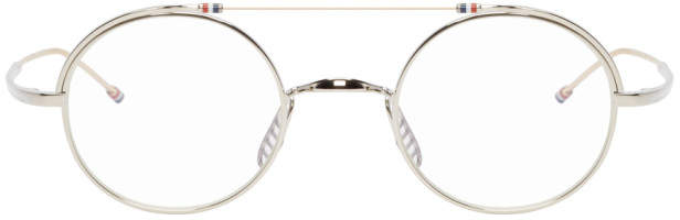 Thom Browne Silver and Gold TB-910 Glasses