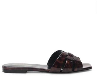 Saint Laurent Tribute Tortoise Leather Slides