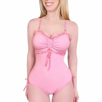 LittleForBig Cotton Romper Onesie Pajamas Bodysuit - Sugar Baby Pink M