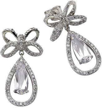 Celesta ZEEme Silver Women's Earrings 925 Sterling Silver Rhodium-Plated Pear Cut 358220363 White Zirconia