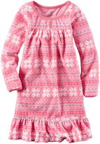 Carter's Patterned Nightgown (Toddler/Kid) - Print - 12/14