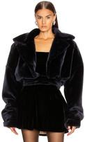 Laquan Smith LaQuan Smith Yasmeen Faux Fur Jacket in Blue Teddy | FWRD