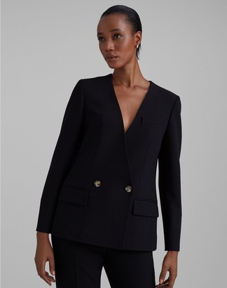 Club Monaco Collarless Fashion Blazer