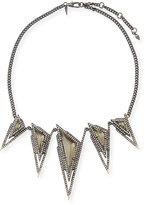 Alexis Bittar Crystal Spike Bib Necklace