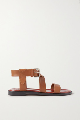 Chloé Aria Leather Sandals - Tan