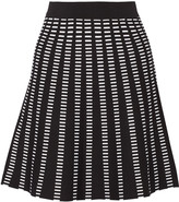 Ohne Titel Dash stretch jacquard-knit mini skirt