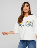 Dotti Betty Embroidered Floral Top
