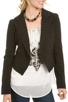 Cropped Tuxedo-Style Jacket